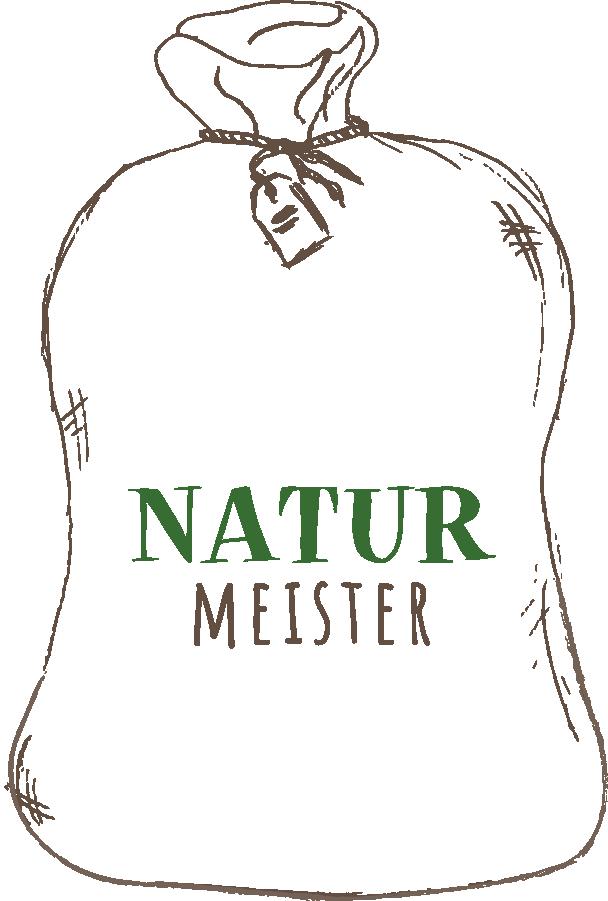 Der Jutesack voll mit Naturmeister Dünger